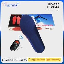 Nuevas plantillas de calefacción electrónica a control remoto plantillas de espuma viscoelástica aislamiento térmico almohadilla de zapatos para hombres y mujeres grande 1800MAH