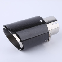 Stainless Steel Carbon Fiber Inlet Tip 63 89mm/63 101mm Outlet Exhaust AK Style Car Styling