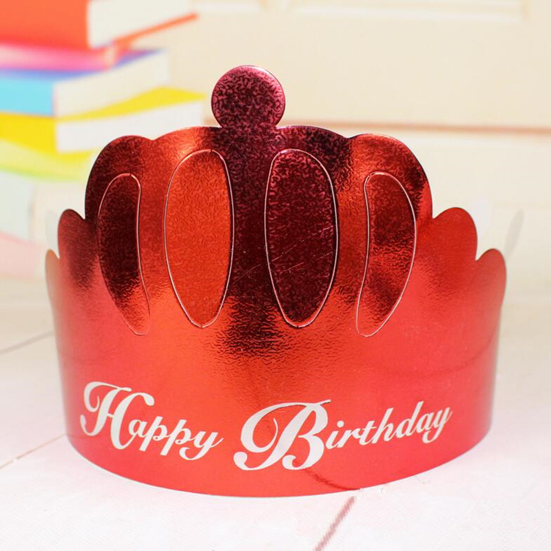 Creative Paper Birthday Crown Hat Adults Prince Princess Caps Party Hats Dress Supplies Christmas