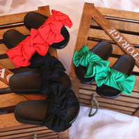 Mother Girls Fashion 3 Colors Slippers Summer Style Children S Footwear Bow Kids Lovely Flats Beach