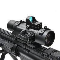 Tactical Riflescope 1 4x Rifle Scope DR Quick Detachable 1X 4X Adjustable Dual Role Sight Airsoft Scope Magnificate For Hunting