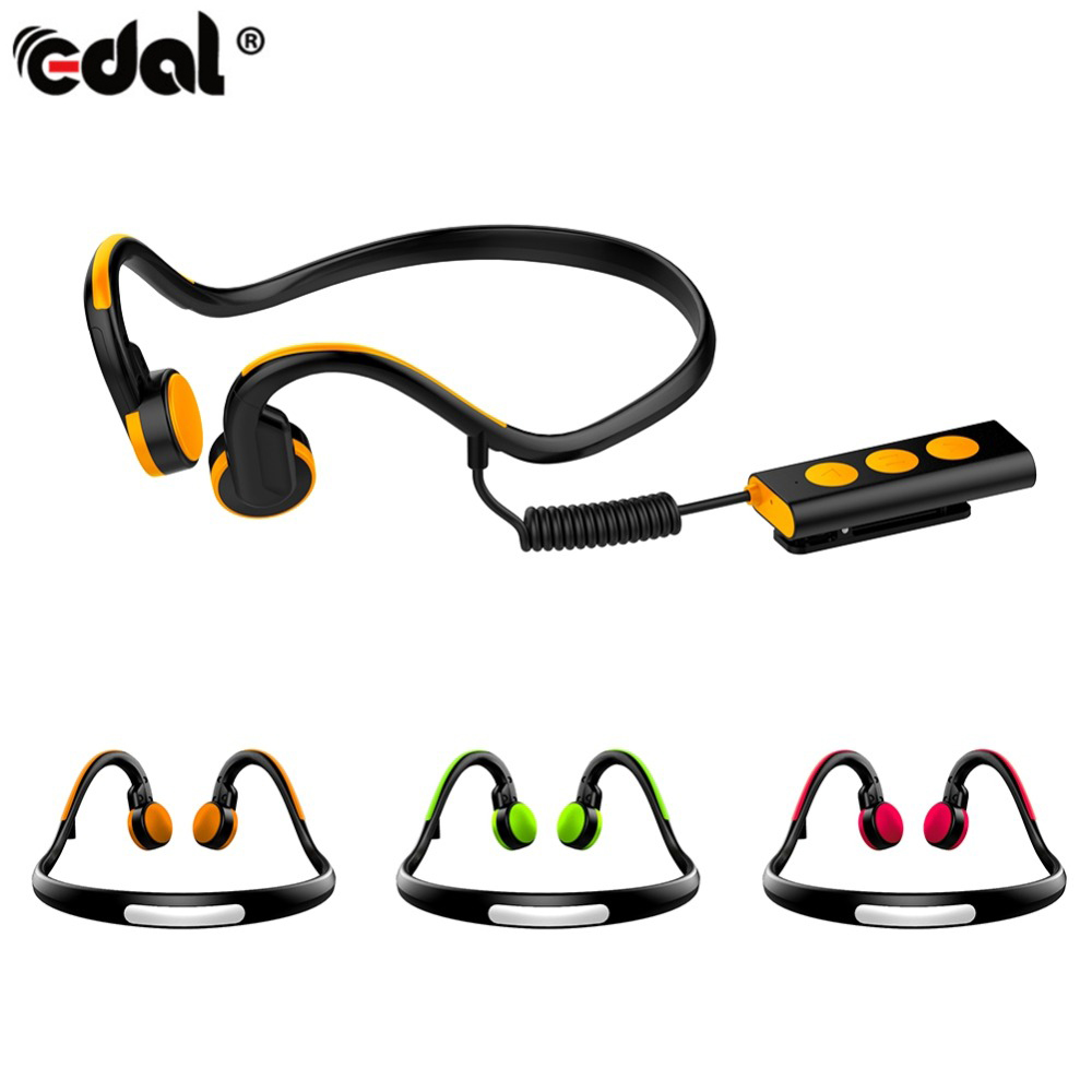 EDAL Bone Conduction Headphones Wireless Noise Reduction Neckband Headsets Outdoor Sport Bluetooth Earphone With Mic dental endodontic root canal endo motor wireless reciprocating 16 1 reduction