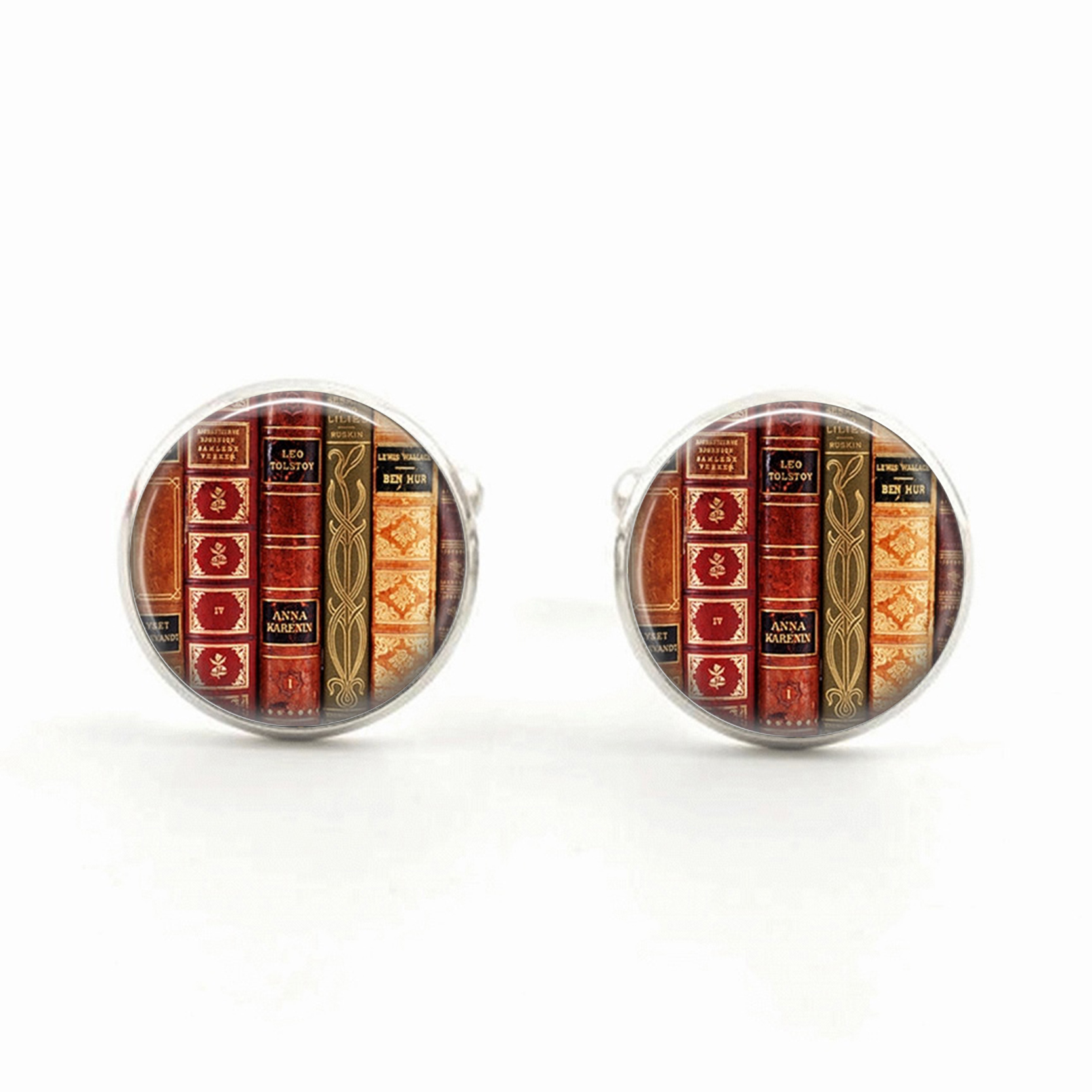 Book Cufflink Book Jewelry Cufflink Lovers Pendant Antique Book Cufflinks French Cufflinks Christmas Gift for Mens 2016 image