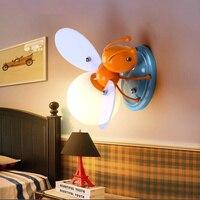 Novelty Fireflies Cartoon Wall Lamp LED Children Wall Lights Child Bedroom Light fixture Bedroom Home Decor lighting lw581111py