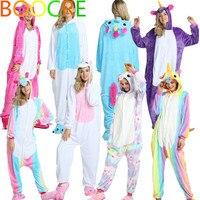 Adlut Women Men Unicorn Tenma Rainbow Unisex Sleepwear Flannel Pajamas Animal Cosplay Costume Onesi
