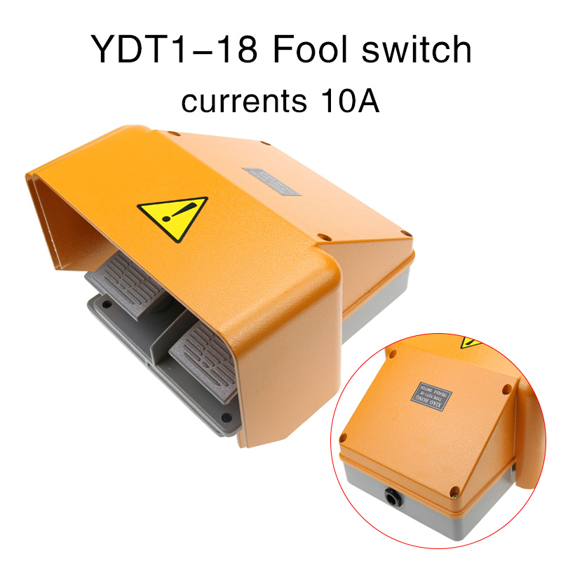 aluminum alloy with full cover, ydt1-18 double full cover yellow double pedal switch.