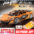DHL 20087 De Legoingly MOC-16915 McLaren P1 Racing Auto Set App RC Technic Auto Speelgoed Bouwstenen Bakstenen Kinderen Kerst geschenken
