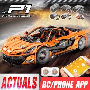 DHL 20087 le MOC-16915 McLaren P1 vitesse voiture ensemble App RC technique voiture jouets blocs de construction briques enfants jouets cadeaux de noël
