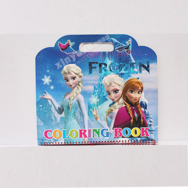 disney frozen fill painting paper kids painting book educational cute cartoon pattern color for kids ty085 - Kids Paint Book