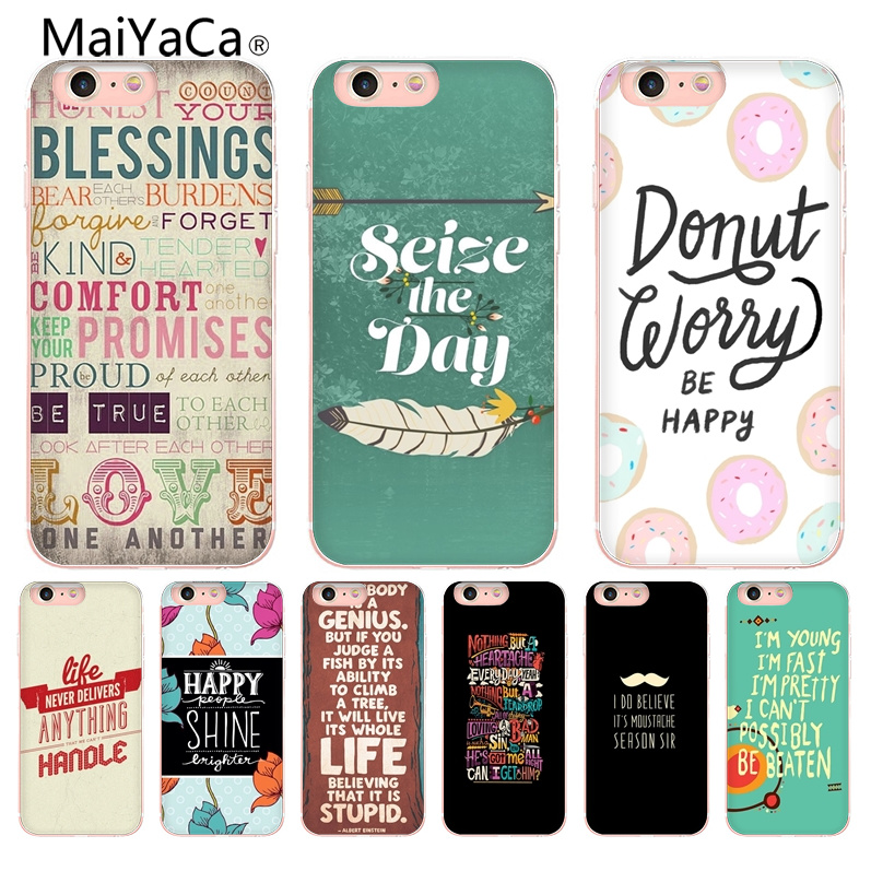 Industrious Maiyaca Text Design Novelty Fundas For Iphone 4s Se 5c 5s 6 6s 7 8 Plus X Xr Xs Max Phone Cases Transparent Soft Tpu Cover Cases Warm And Windproof Cellphones & Telecommunications