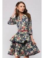 2017 Autumn Winter Dress Warm Casual Vintage Velvet Dress Female Dresses Office Sarafan Robe Large Size