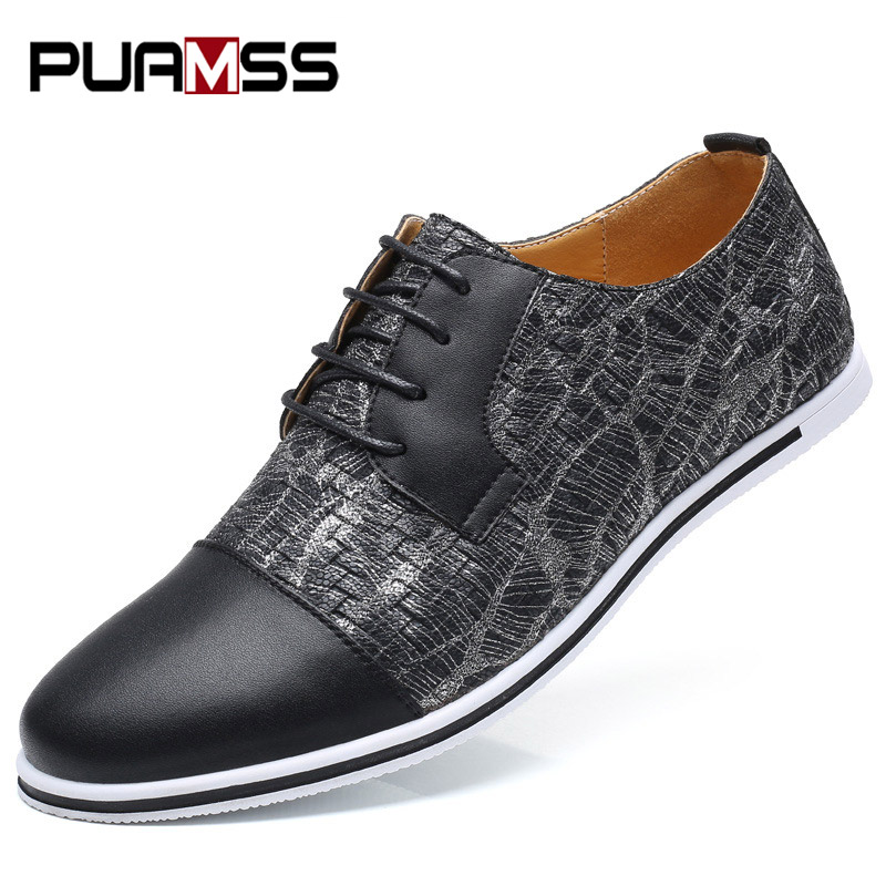 PUAMSS 2018 Fashion Men Casual Shoes New Spring Men Flats Lace Up Male Suede Oxfords Men Leather Shoes Men's Sneakers Plus Size 2017 fashion men casual shoes new spring men flats lace up male suede oxfords men leather shoes zapatillas hombre size 38 48