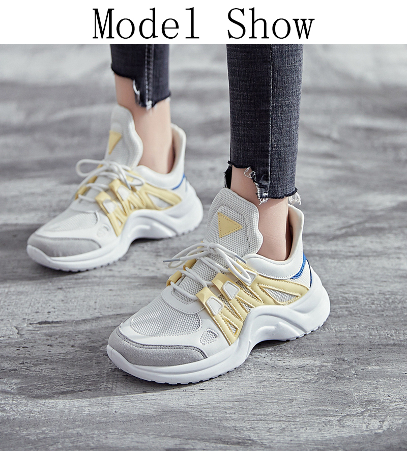 65719e76b46 Women's Shoes - Women 2019 Hot Fashion Tenis Breathable Mesh Chunky ...