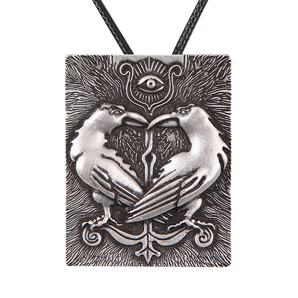 aliexpress com buy 10pcs huginn munin ravens necklace pendant