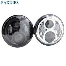 FADUIES 1Psc черный/хром 7 дюймов Круглый Высокий/Низкий светодиодный передний фонарь для мотоцикла Honda CB400 CB500 CB1300 светодиодный налобный фонарь