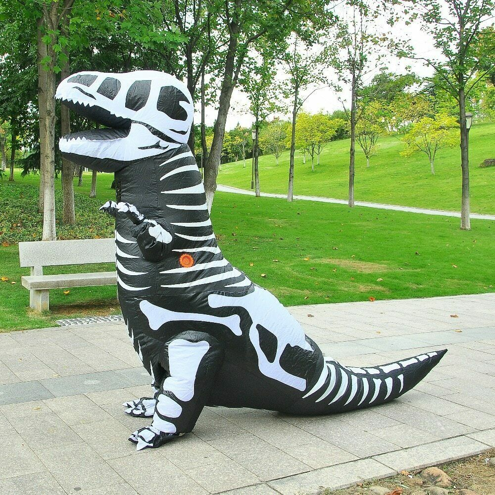 Halloween Inflatable Costume Black Dinosaur Mascot Suit Cosplay Party Game Dress Outfits Advertising Carnival Xmas Easter Adults
