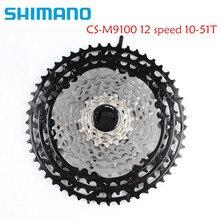 SHIMANO XTR M9100 12S Geschwindigkeit Mountainbike Fahrrad Freilauf Kassette MTB 12S 10 51T M9100