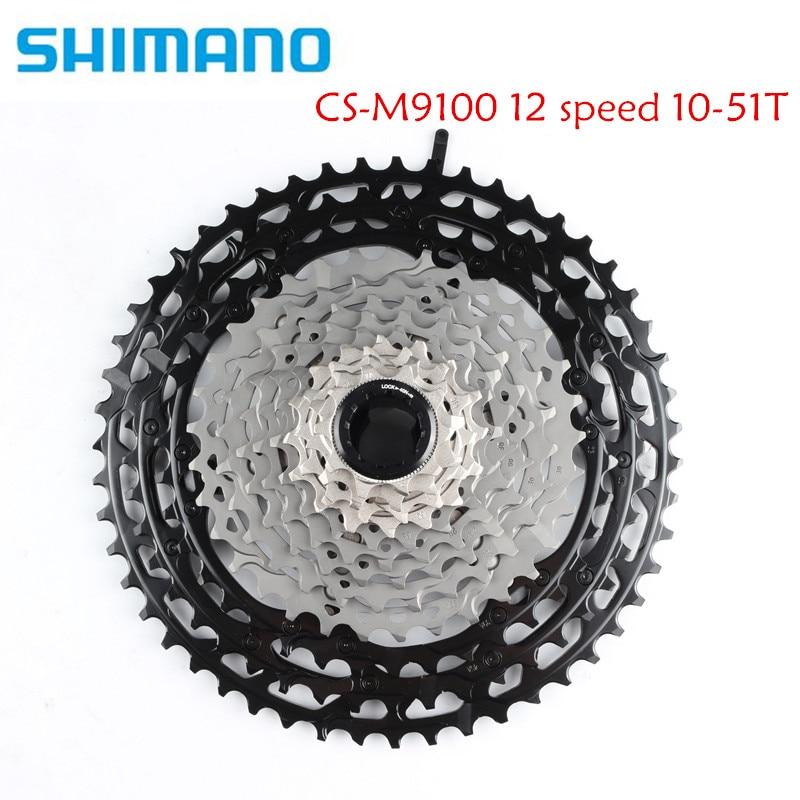 SHIMANO XTR CS-M9100 12 S Скорость горный велосипед выбеге кассета MTB 12 S 10-51 T M9100