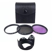 100% GUARANTEE FILTER KIT+LENS HOOD 62mm CPL UV FLD for NIKON CANON SONY PANASONIC OLYMPUS FUJI