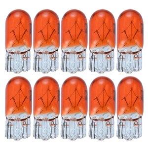 Image 1 - 10PcsรถW5W T10 194 158ไฟฮาโลเจน12V 5W Amber/สีส้มWedge Instrumentอ่านภายในClearance