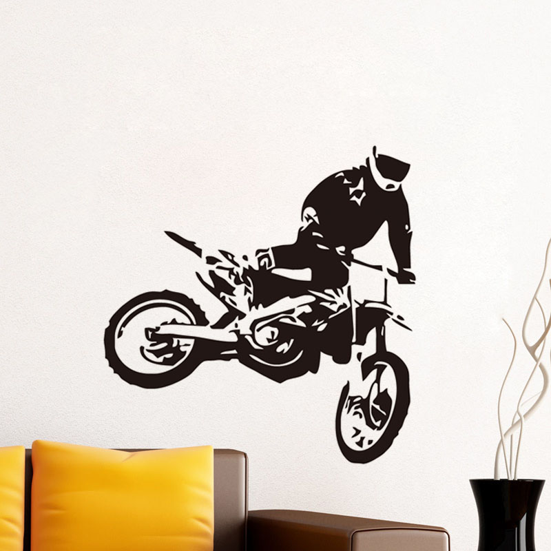 Dctop Fashion Design Motorcycle Racer Diy Wall Sticker For