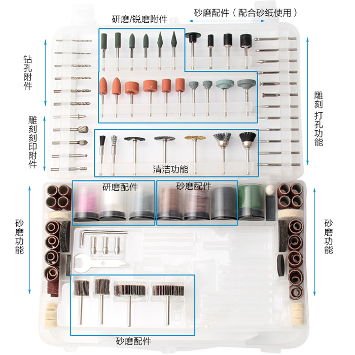 Rotary Tool Bits Set Electric Dremel Rotary Tool Accessories for Grinding Polishing Cutting Abrasive Tools Kits Free Shipping