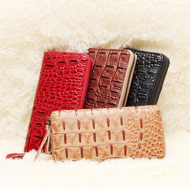 2018 Crocodile Long Clutch Phone Famous Designer Lady Female Wallet Women Luxury Brand Purse Carteras Portomonee Walet Money Bag 2017 purse wallet big capacity female famous brand card holders cellphone pocket gifts for women money bag clutch passport bags