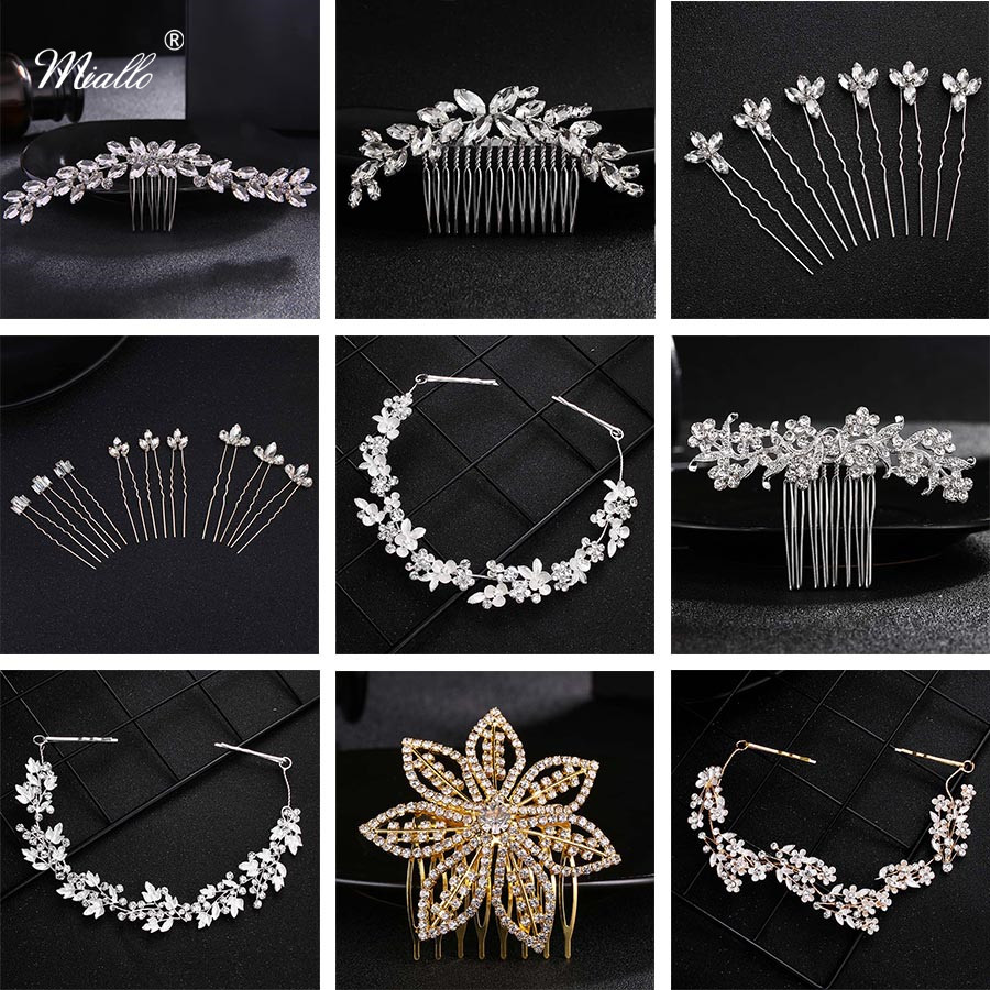 Miallo Wedding Hair Comb Clip for Bridal Rhinestone Hairpins Accessories for Bride Hair Side Combs Jewelry for Women Headpieces 1