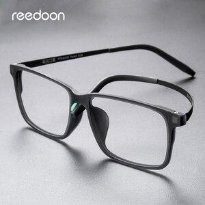 Image 3 - Reedoon Optical Eye Glasses Frame Ultralight Square Prescription Eyeglasses Plastic Titanium TR90 Frame Clear Lens For Men Women