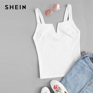 Image 1 - Shein colete bege com corte slim em cor lisa feminino, festa verão 2019 bases minimalista alcinha espaguete