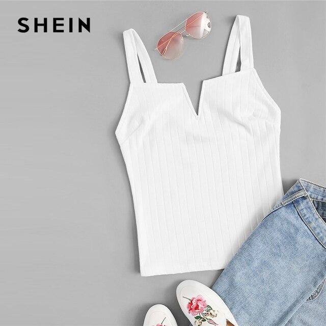 Shein colete bege com corte slim em cor lisa feminino, festa verão 2019 bases minimalista alcinha espaguete