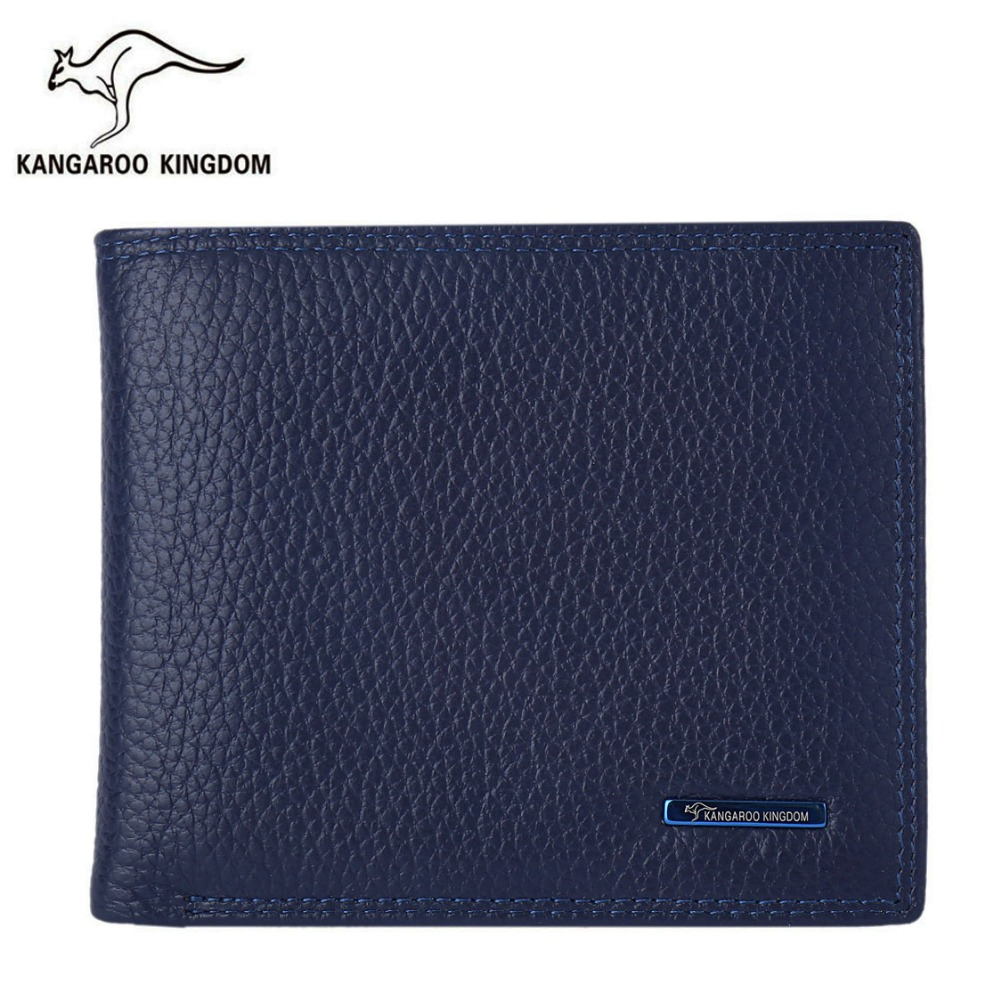 Kangaroo Kingdom Luxury Men Wallets Short Genuine Leather Wallet Brand Male Business Purse Card Holder 2017 men business short leather wallet male brand wallets purses with card holder for men