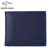 Kangaroo Kingdom Luxury Men Wallets Short Genuine Leather Wallet Brand Male Business Purse Card Holder