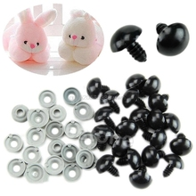 20PCS 6 20mm Black Plastic Safety Eyes For Teddy Bear Dolls Toy Animal Felting New HC6U