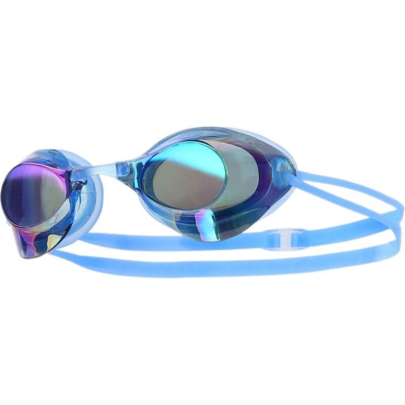 Открытый Водные виды спорта мужские и женские очки для плавания для взрослых водонепроницаемые и противотуманные профессиональные гоночные очки - Цвет: L