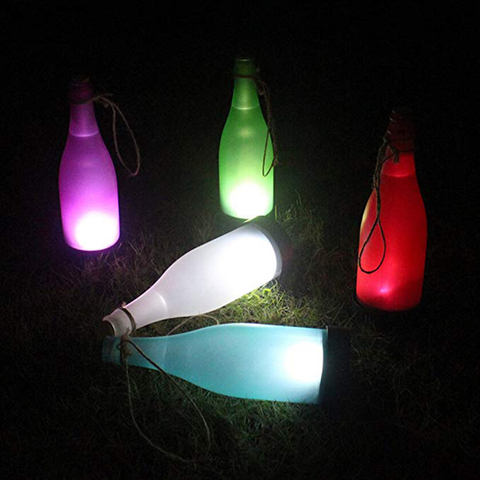 5 pcs lote led garrafa de vinho de luz solar do jardim da lampada luzes