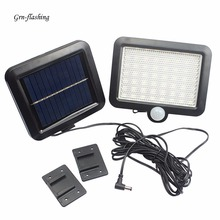 56 LED Solar Wall Light PIR Motion Sensor Garden Lamp Indoor Outdoor Solar Power Waterproof Spotlight Path Street Night Lighting недорого