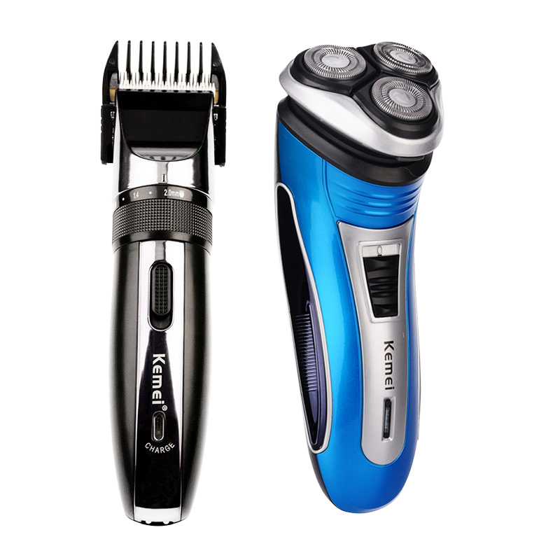 110-240V Kemei Electric Hair Clipper Rechargeable Hair Trimmer Shaver Razor Haircut Beard Trimmer Men Clipper Ceramic Blade kemei 220 240v electric hair cutting rechargeable hair trimmer men beard trimmer shave razor haircut professional clipper kit