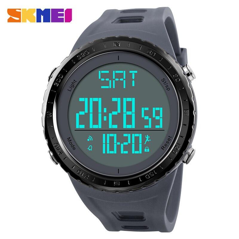 Sports Watches Men Top Luxury Brand Calorie Mens Watch Electronic Date Clock Countdown Wrist Watch relogio masculino SKMEI 2018