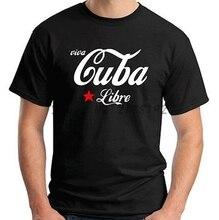 Di modo di Trasporto libero degli uomini di marca t-shirt Cuba Star Logo  degli 3400d36f48fd