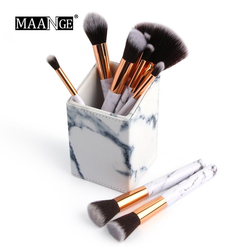 MAANGE New Arrival Marble Pattern Makeup Holder Organizer ...