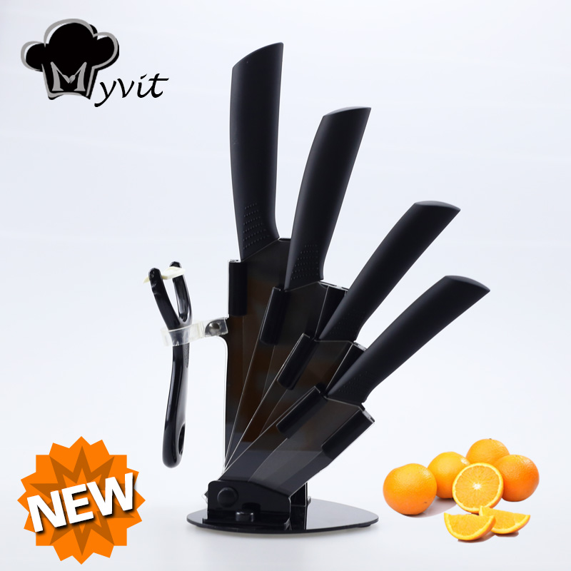Myvit Brand Home Kitchen Knives 3 4 5 6 Peeler Knife Holder Ceramic Knife Set 8