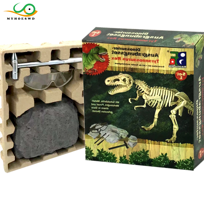 MYHOESWD Dinosaur Fossil Archaeological Excavation Toys Skeleton Building  Blocks Assembly Model Kids Educational Toys Legoings