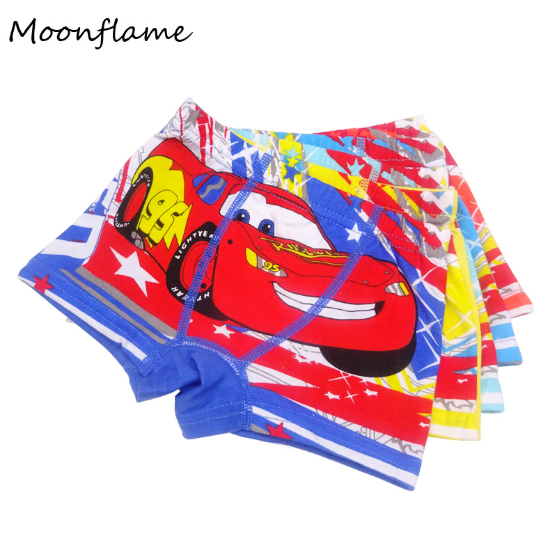Moonflame New 5pcs Children Underwear Boy Boxer cueca 2-8T Kids Baby Cartoon Panties Boys Underwear ...