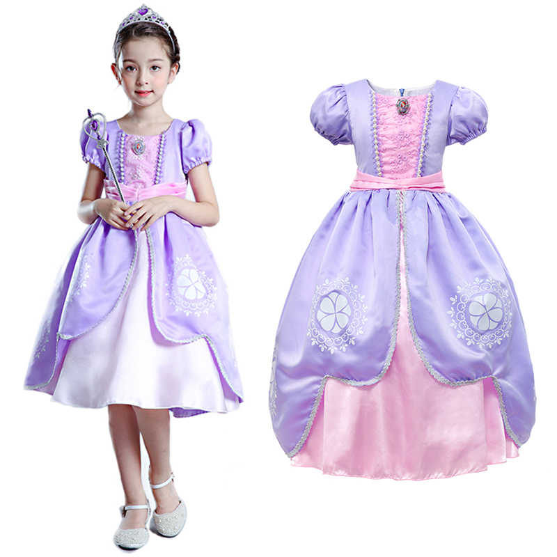 b5435ab4b5 PaMaBa Fancy Girls Sofia the First Clothes Dress Kids Princess Sofia ...
