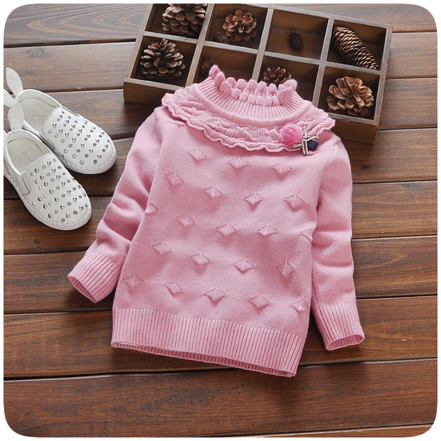 8a7aa7202 winter baby girls sweaters infant girls clothes high collar cardigan ...