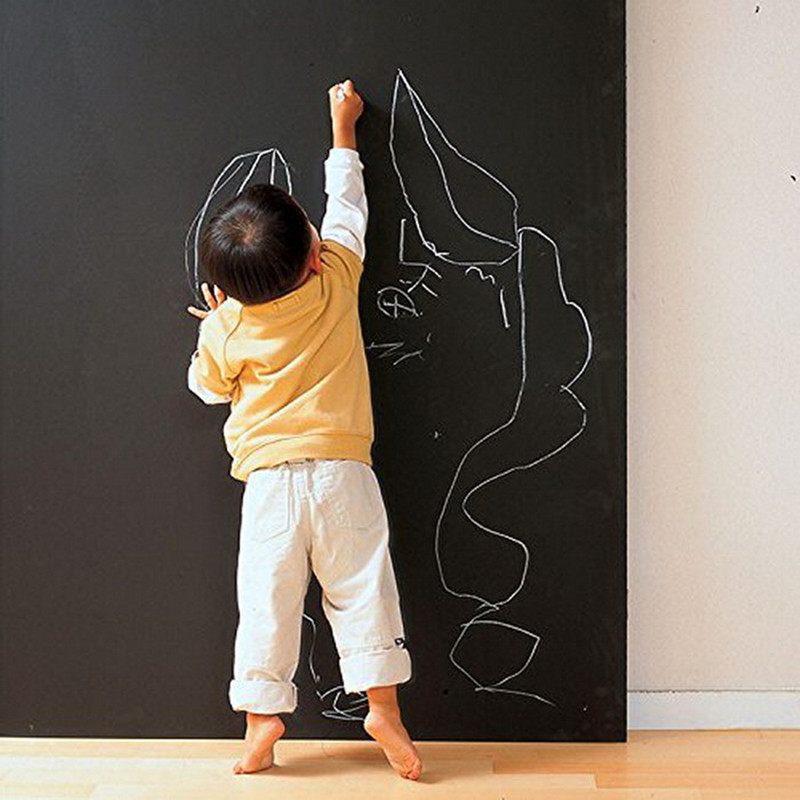 Self Adhesive Vinyl Chalk Board Wall Sticker Removable White Board Decor Mural For Home Office Kid Room