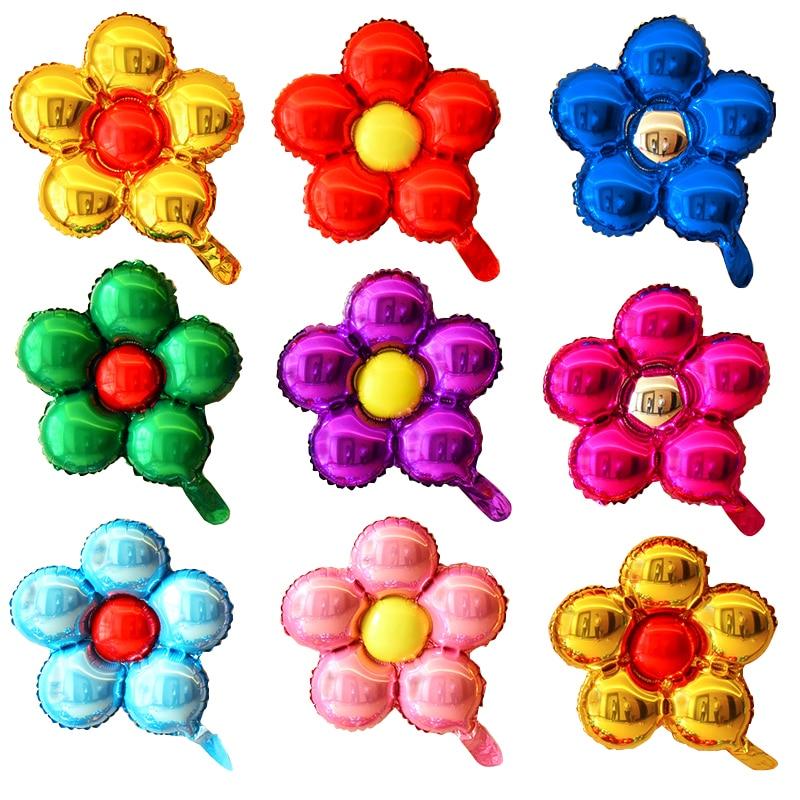 Абрикос вечерние украшения шарик из фольги в форме цветка одежда для свадьбы, дня рождения вечерние декоративно формленная надувная воздуш...