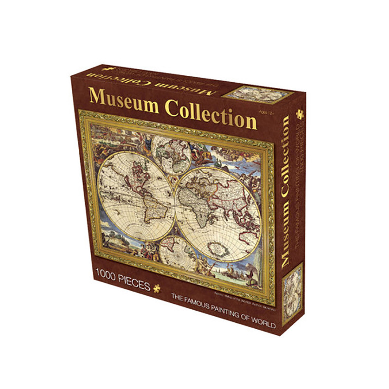 World Famous Painting Art Puzzles Old Master Jigsaw Museum Collection World Map Plant Sunflower Kids Toy Home Decor Gift 1000pcs