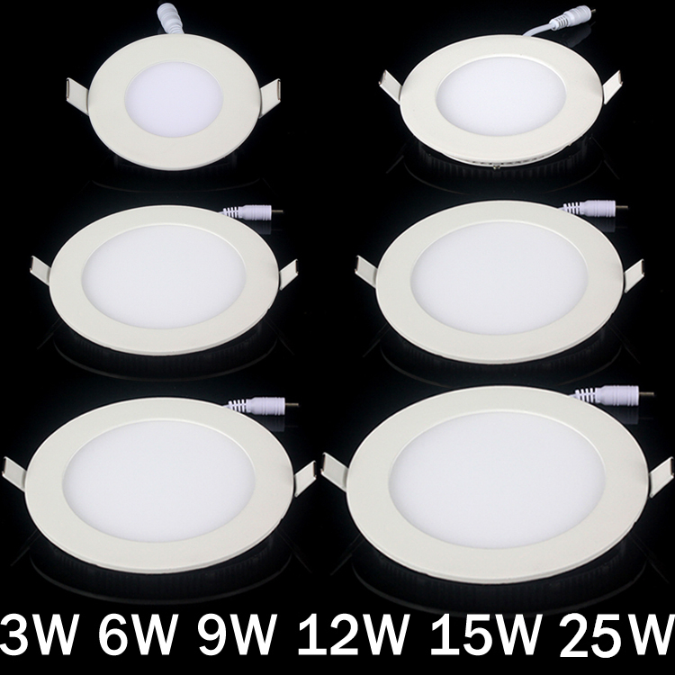 20pcs / lot Dimmable Ultra tanka 3W / 4W / 6W / 9W / 12W / 15W / 25W - Unutarnja rasvjeta - Foto 1